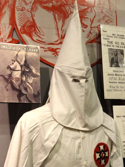 The Ku Klux Klan is an icon of racial hatred in the U.S.  The Klan began as a political action group of sorts to combat the influx of freed African-Americans seeking political office as part of the newly formed Republican Party.