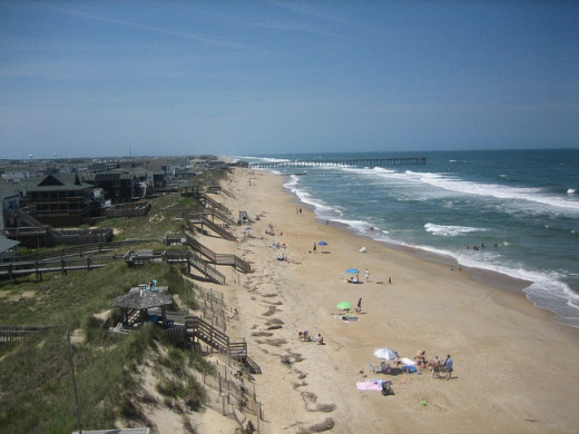 Beautiful Nags Head Beach On The North Carolina Outerbanks. You should visit real soon. Its so beautiful here.