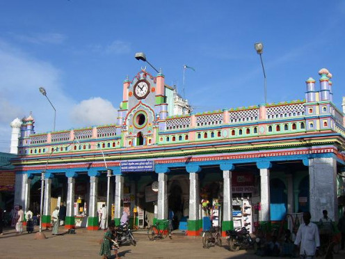 Nagore Dargah, a famous shrine of Muslims