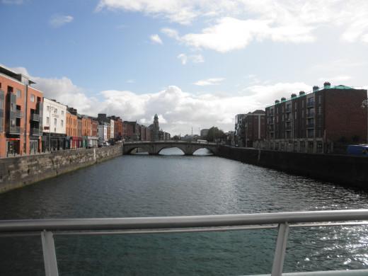 View of Dublin from James Joyce Bridge