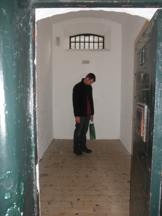 My husband imprisoned in one of the East Wing cells.