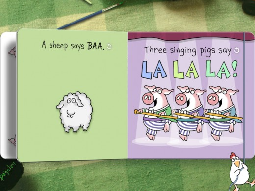 Moo Baa La La La is a book which has cute pictures and teaches your baby the animal sounds.