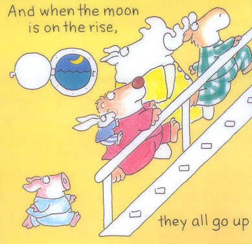 A Page from The Going to Bed Book by Sandra Boynton