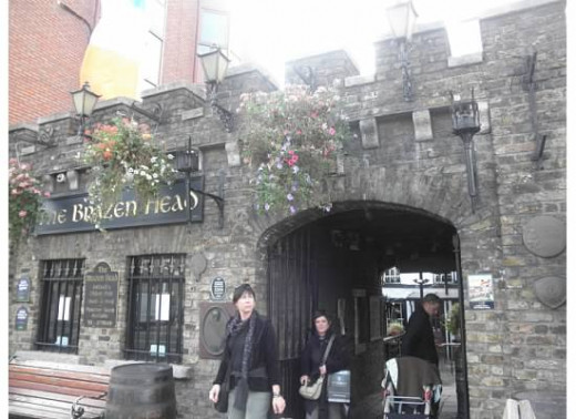 Exterior of the Brazen Head Pub.