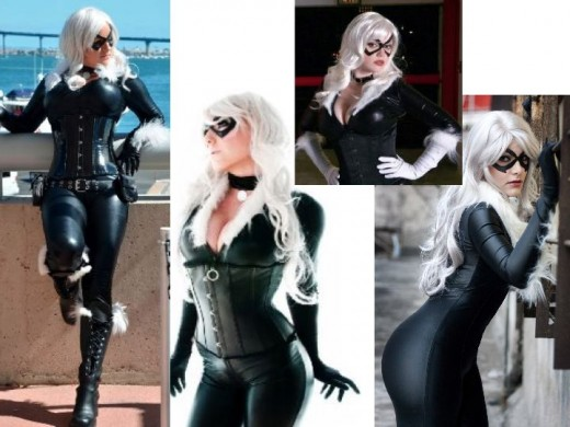 Felica Hardy Black Cat Cosplay Costumes