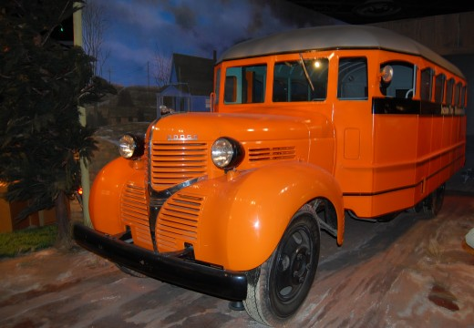Photo of 1939 Dodge School Bus at the Museum of American History located in Washington D.C.