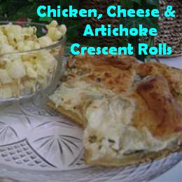 Chicken, Cheese, & Artichoke Crescent Roll Recipe
