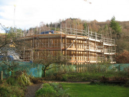 The Wales Institute for Sustainable Education, constructed partly with Hemcrete materials.