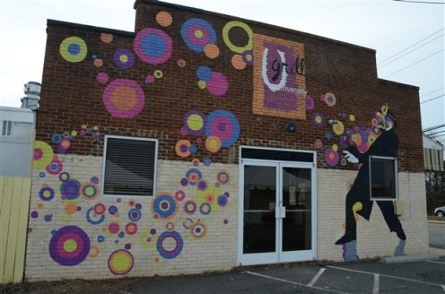 This mural was painted by local students during the restaurant's makeover in 2012