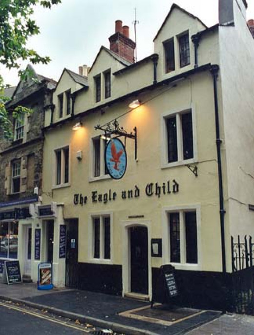 The Eagle and Child is the most famous meeting place for the Inklings.