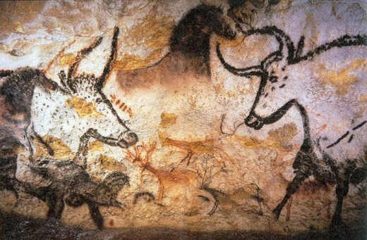 A 16,000 year old work of human art! Found in a Lascaux cave, France. One of the first ever found.