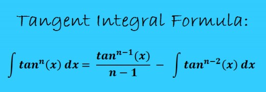 Integral formula for tangent raised to a power.