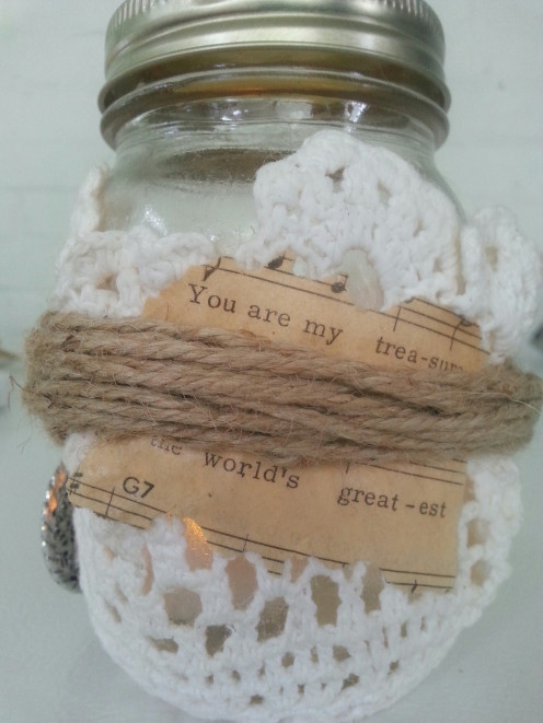 Treasured Love Mason Jar