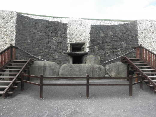 Entrance into the chamber of Newgrange.