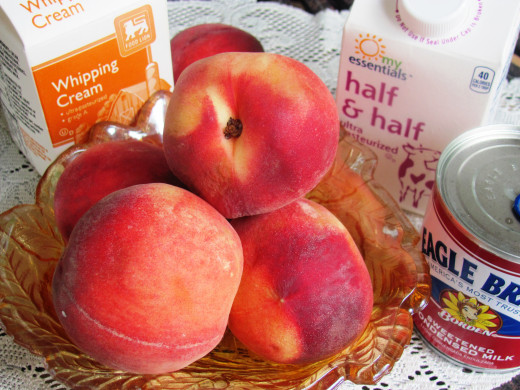 Great recipes like this start with good quality ingredients:  mouth watering peaches, cream, milk, and eggs.  This ice cream will have folks coming back for second helpings -- or more!