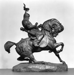 Tartar Warrior Checking His Horse