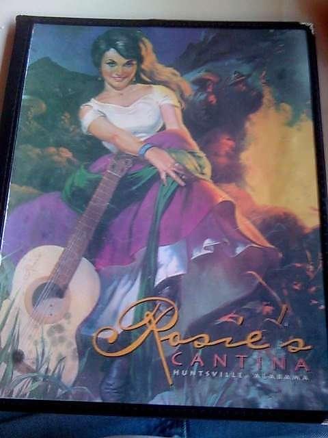 The saucy senorita on their menu cover