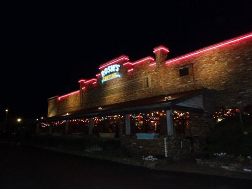 Rosie's Mexican Cantina at night- Huntsville,AL