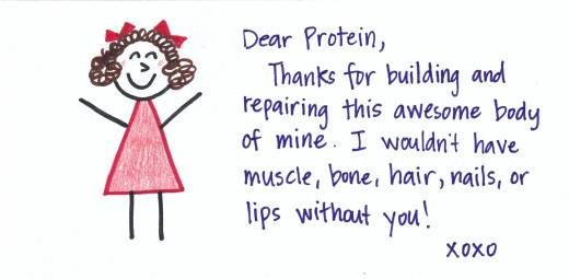 I think in our everyday lives we need to thank the person who discovered the use of having proteins in your body.