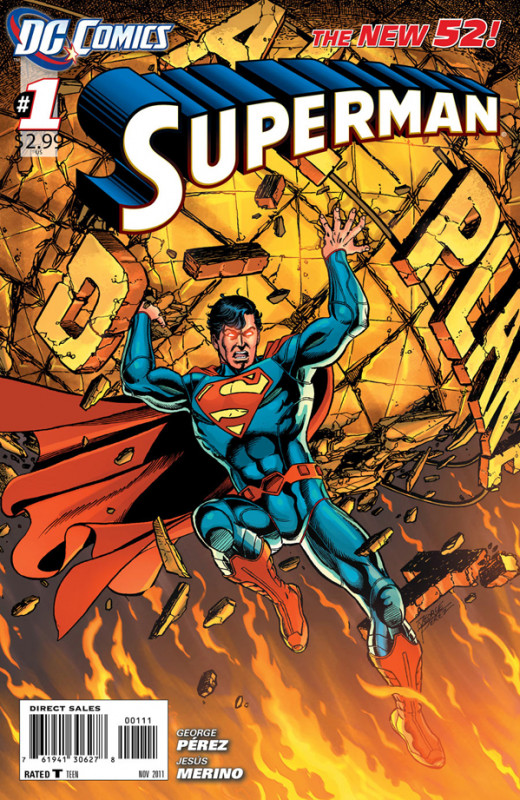 Superman issue 1, after the new 52 relaunch.