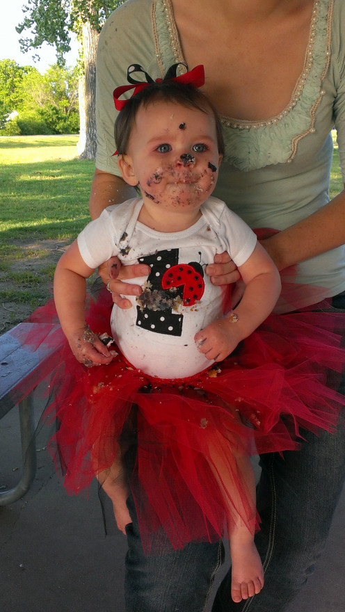 This little one thoroughly enjoyed her ladybug themed party!