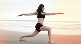Yoga can be done just about  anywhere even on the beach