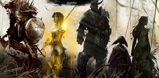 Guild Wars 2's race selection screen