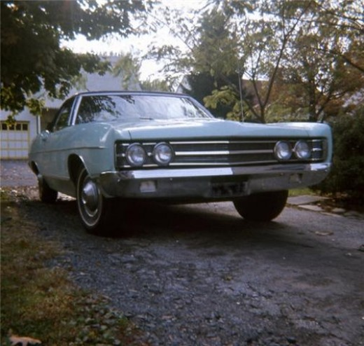 A '69 Ford Galaxy - the old girl as she looked in her prime.