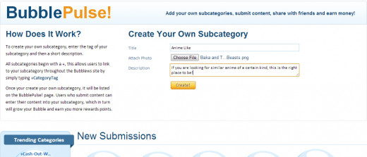 with bubblews pulse you can even create your own subcategories too.