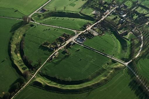 aerial shot of the circle