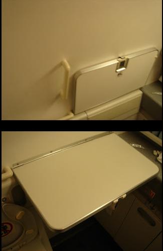 Diaper change table on board-