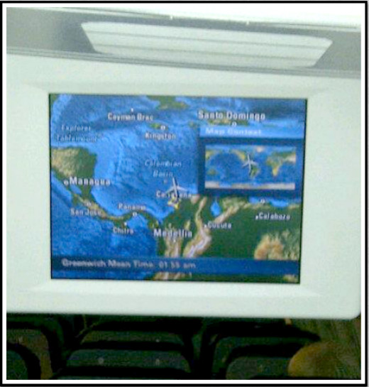 Airplane GPS screen