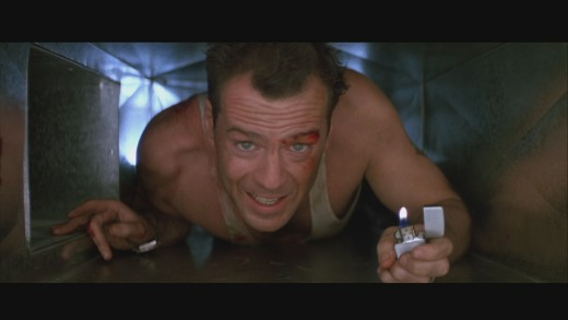 The scene where John McClane makes one of the famous quotes.