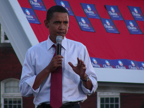 Obama in his natural groove: the campaign trail