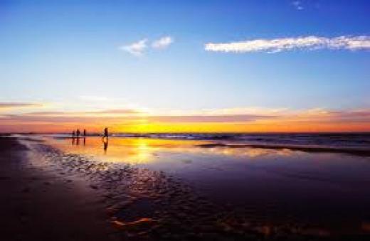 A lovely sunset in Virginia Beach, Virginia.