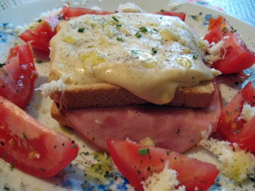 Croque Monsieur with Ham