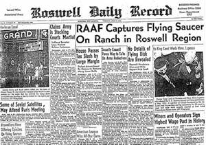 Original News article right after they found the debris on the Roswell ranch.