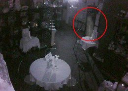 This is a photo taken from the surveillance video in the Tea Room.