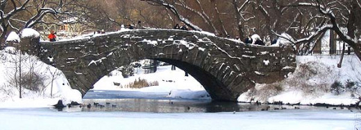 Gapstow Bridge, Central Park, The Pond