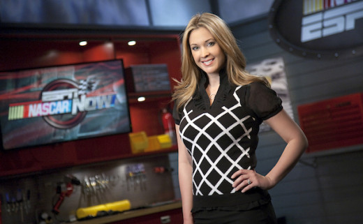 Her work with ESPN, both in studio and in pre-race coverage, merits a look at a higher profile position