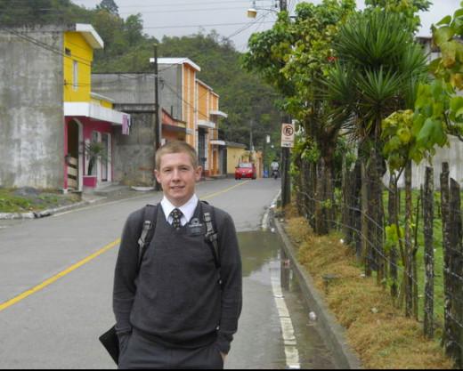Elder Burton in Guatemala