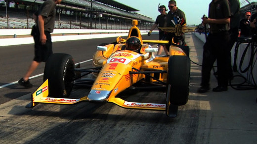 Kurt Busch, testing an Indycar earlier this year for Andretti Autosport