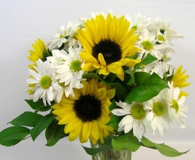 Sunflowers and daisies