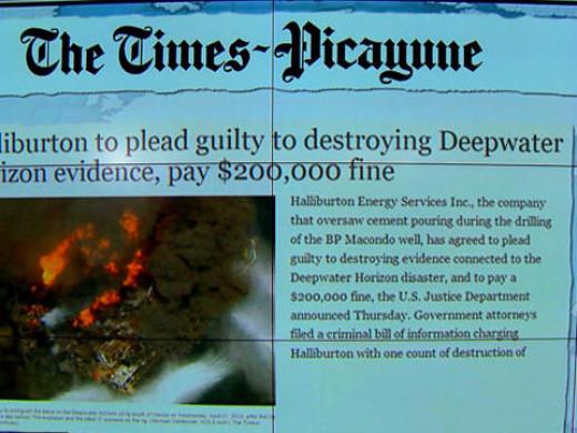 Halliburton in the headlines.