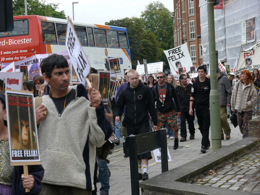 Free Felix Protest, this was I believe at Oxford lab.