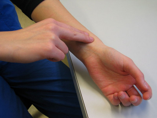 The radial artery is generally taken up for examining the pulse. The rate, rhythm, volume and character of the pulse and nature of the arterial wall are noted