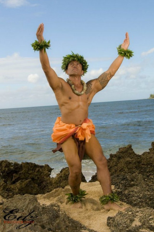 This is what men wear as a hula dance costume.