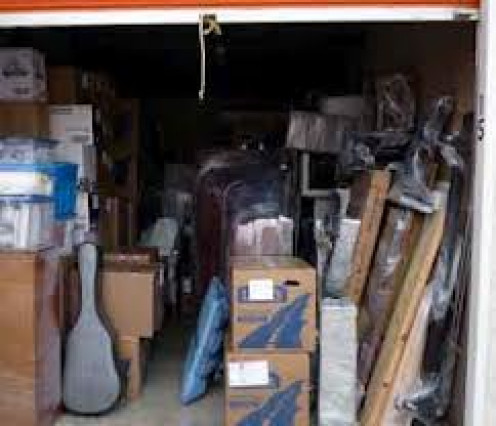 You never know what you will find at a storage auction so make sure and bring a large truck or van.