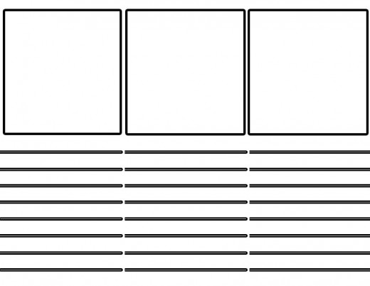 a storyboard template