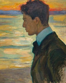 Boris Pasternak as a young boy, painted by his father, post-impressionist painter, Leonid Pasternak.
